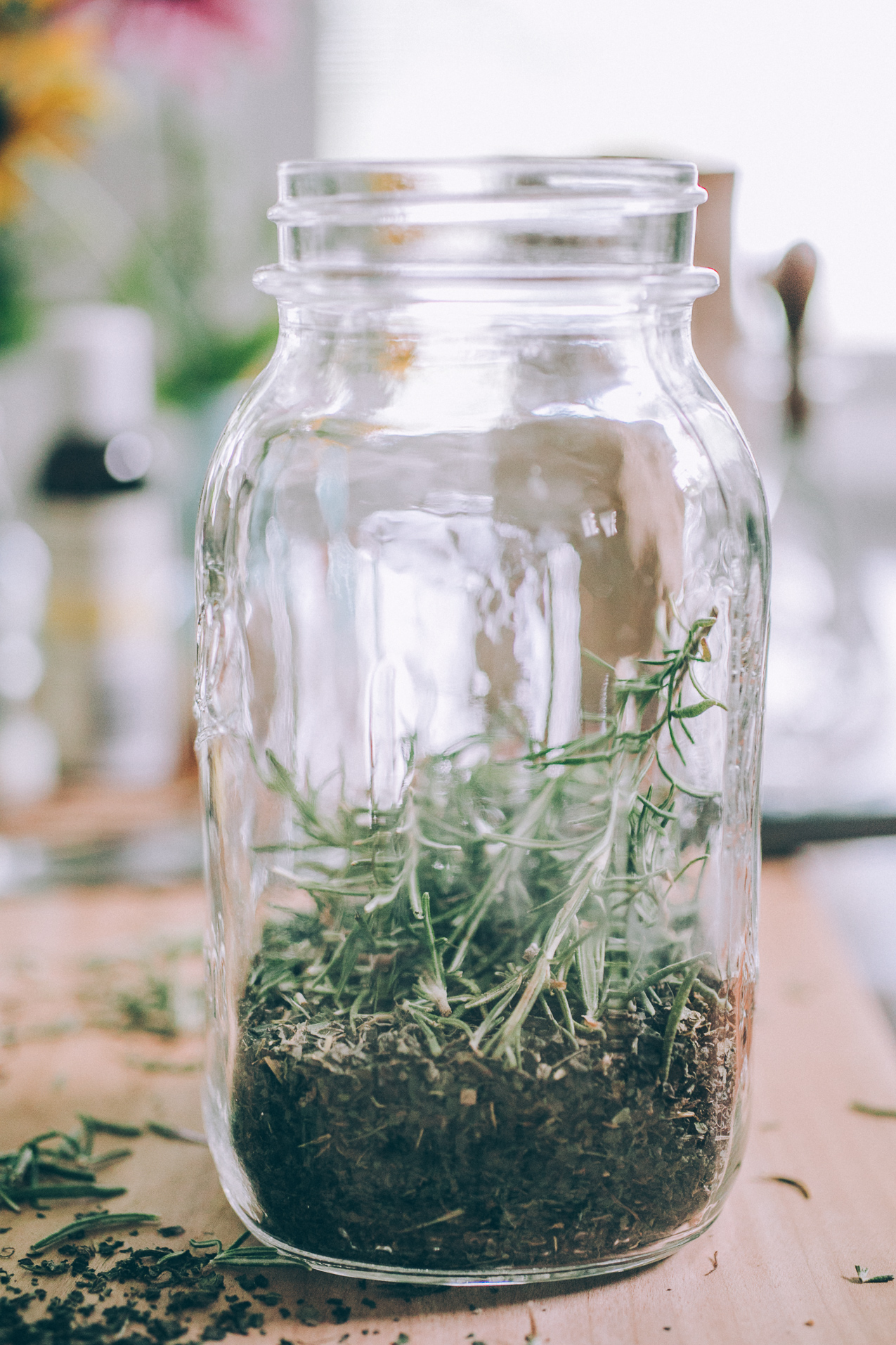 Simple Herb Infused Culinary Oils | Ginger Tonic Botanicals