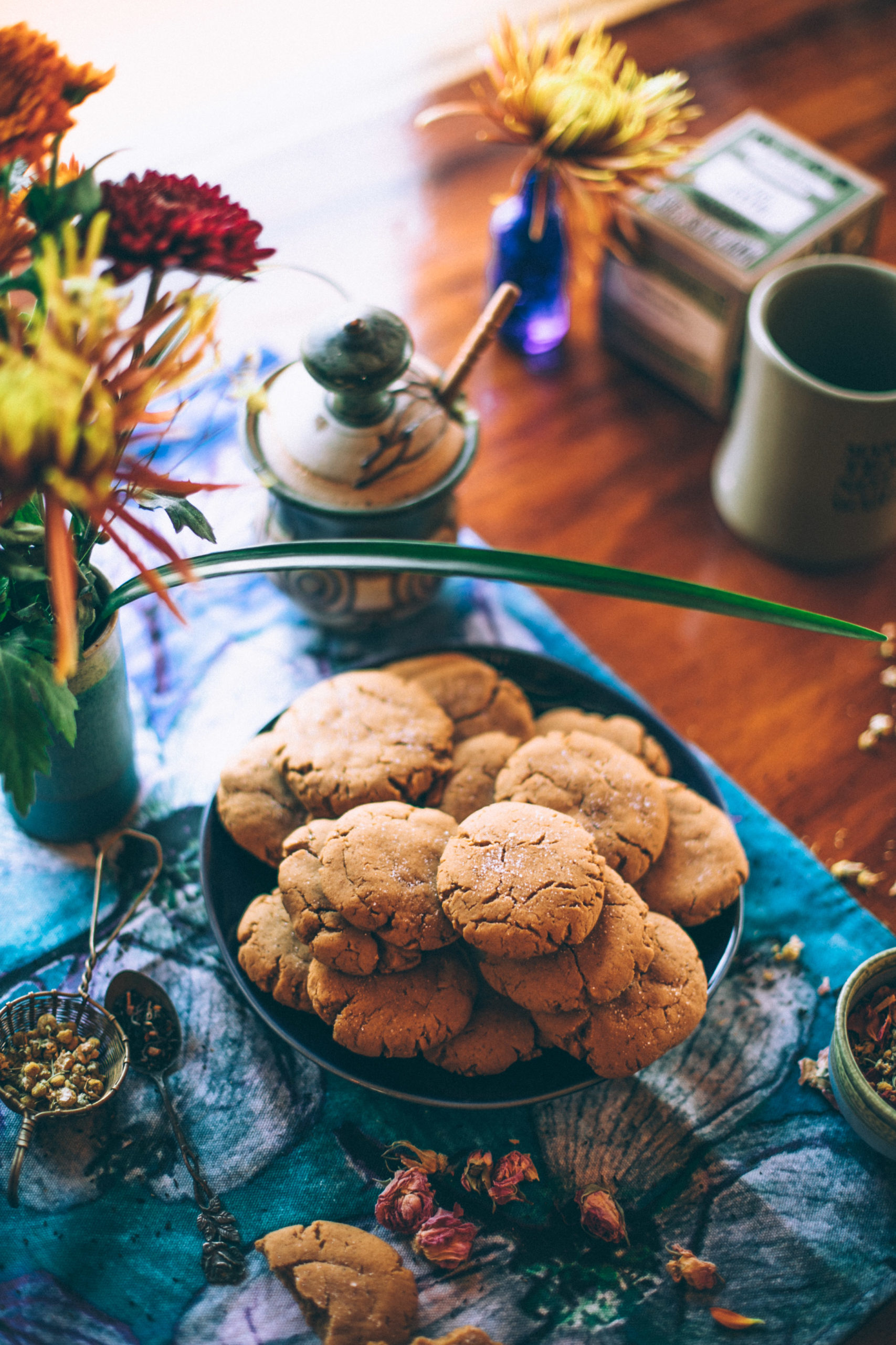 Healthy Ginger Snap Cookies